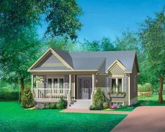Plan 80630pm Lovely Two Bedroom Home Plan Di 2021 Denah Rumah Desain Rumah Bungalo