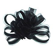 Nice Tulle Wedding Bridal Black Flower/ Corsage/ Headpiece