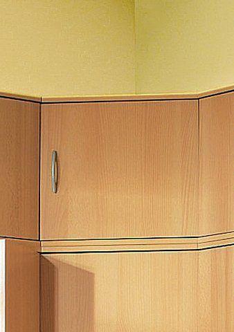 Eck-Aufsatzschrank ´´Clara´´ 1trg beige, FSC®-zertifiziert - wohnzimmer orange beige