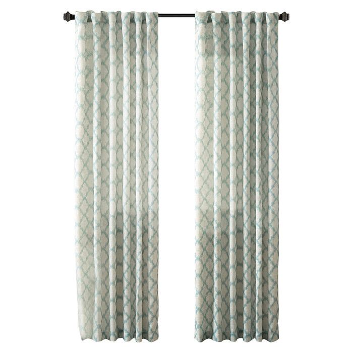 Ikat Trellis Rod Pocket Curtain Panel Curtainshang