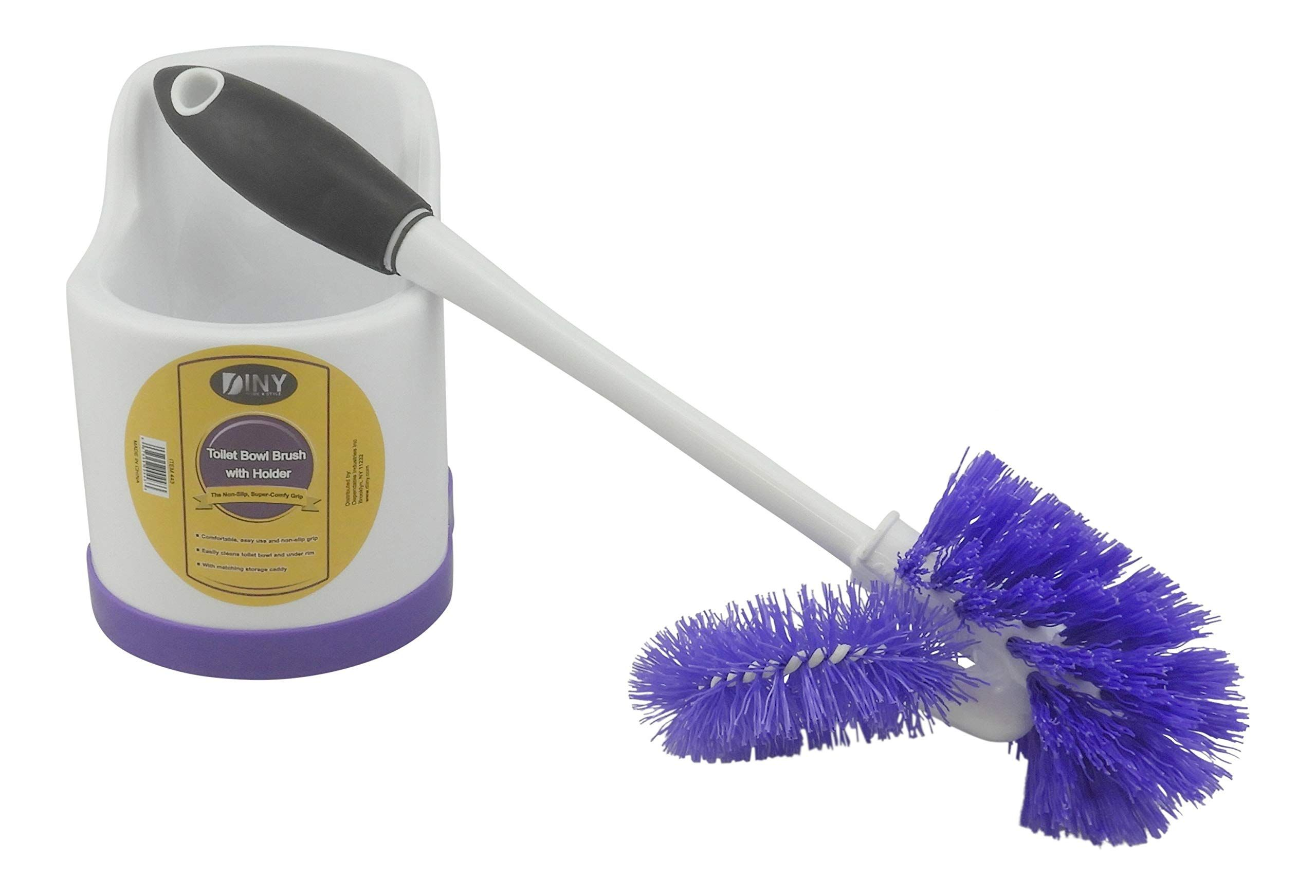 Diny Home Products Toilet Bowl Brush With Rim Cleaner And Holder Set Toilet Bowl Cleaning System With Scrubbin In 2020 Toilet Bowl Brush Toilet Bowl Clean Toilet Bowl