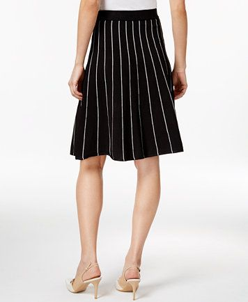 da02a0d8fb Calvin Klein Striped Fit & Flare Skirt | macys.com | My Style ...