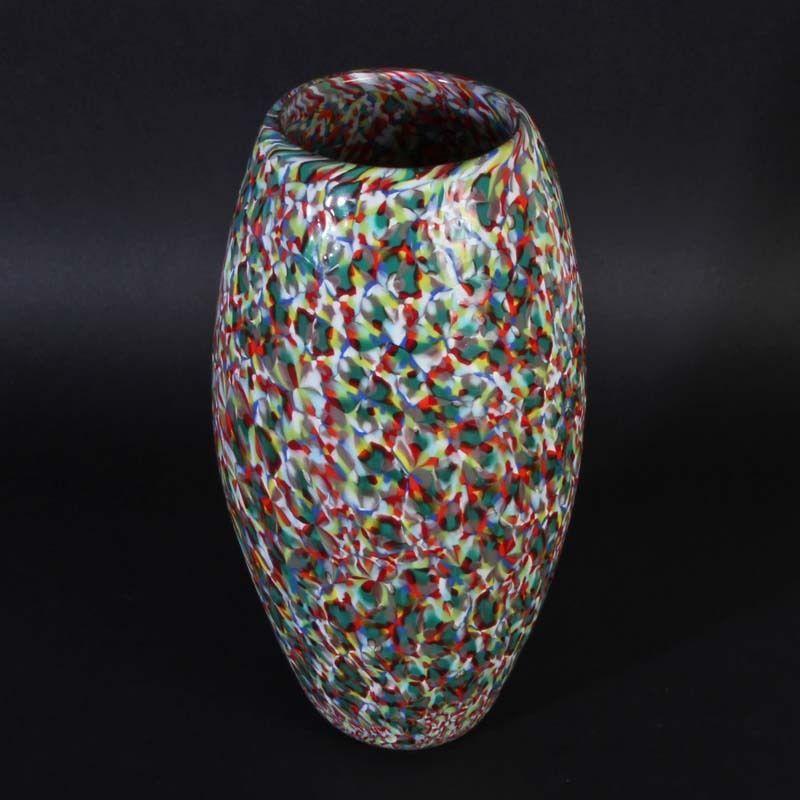 RARE Vase Vittorio Ferro  Tutti Frutti  aus Murano Glas Fratelli Pagnin