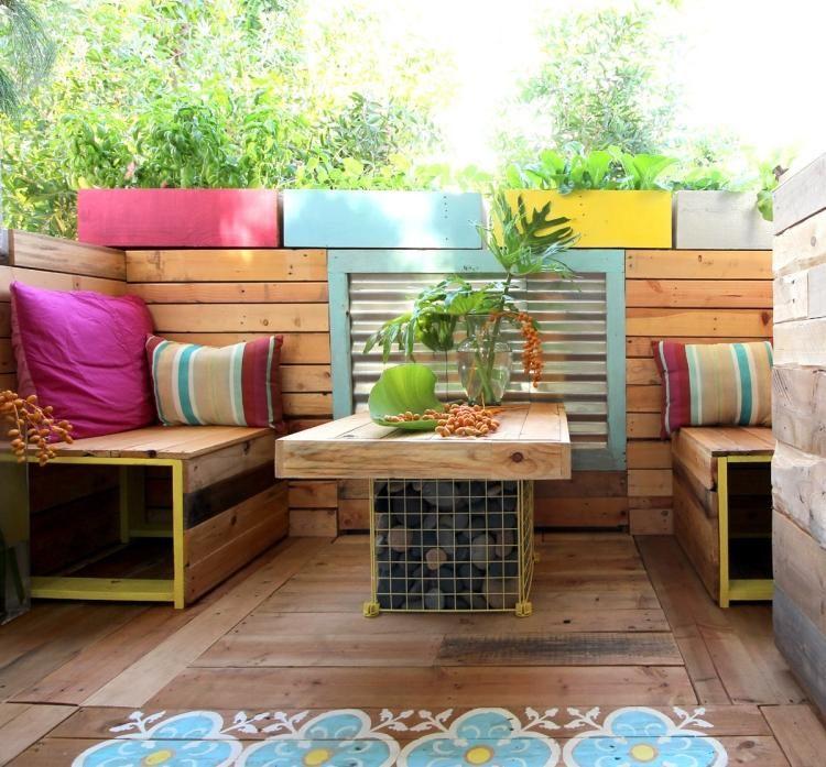 möbel aus paletten selber bauen - sofa und kaffeetisch für den, Gartenmöbel