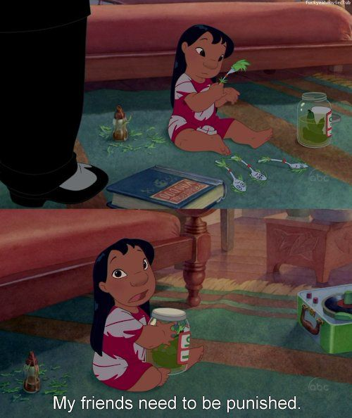 Lilo Stitch My Friends Need To Be Punished Cartoons