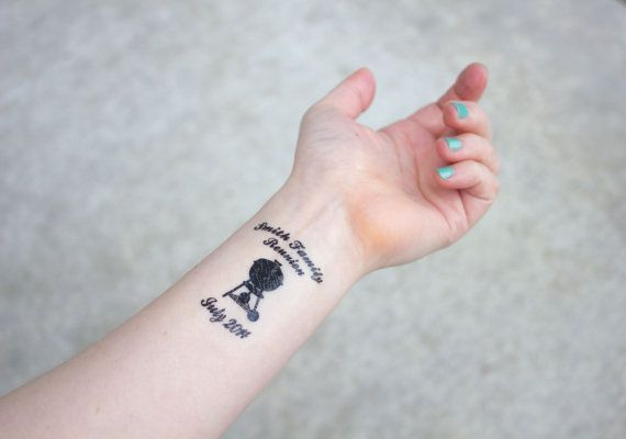 Temporary Tattoos for a family reunion or summer bbq party. www.kristenmcgillivray.etsy.com
