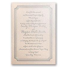 Impressive Borders - Blush Shimmer - Foil Invitation- invitationsbydawn