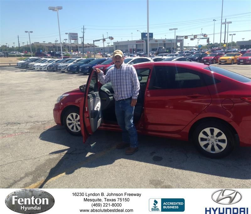 Congratulations Javier on your Hyundai Accent from Holly