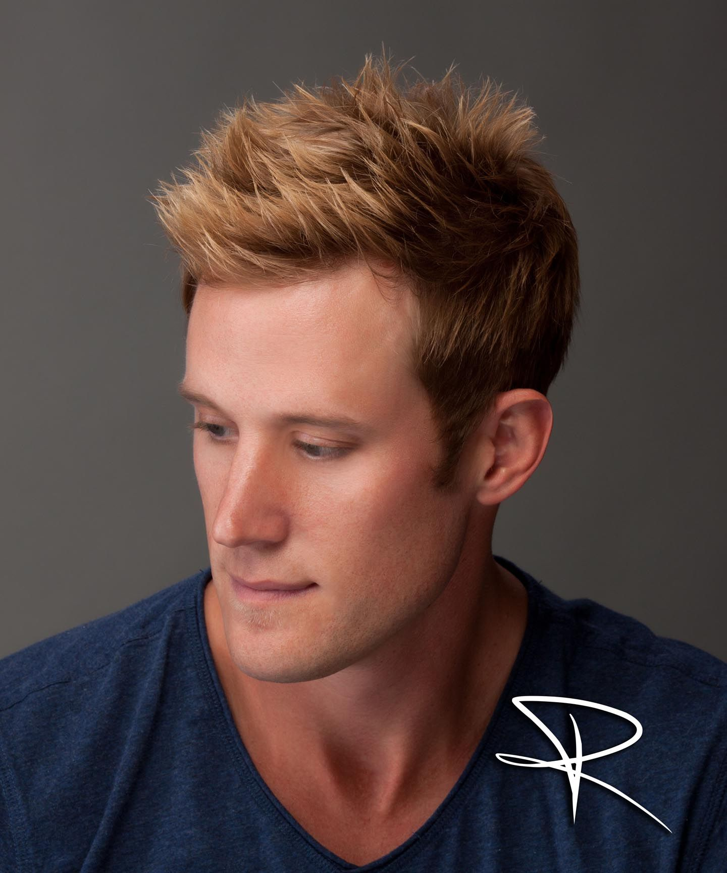 Dark Hair with Blonde Highlights Men