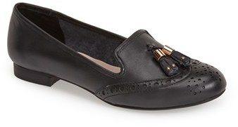 $109, Black Leather Tassel Loafers: Dune London Loki Leather Loafer. Sold  by Nordstrom