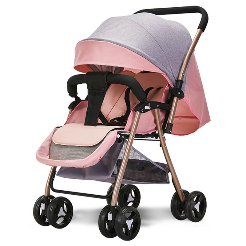 516A Twoway Sitting Reclining Stroller Pink Rose
