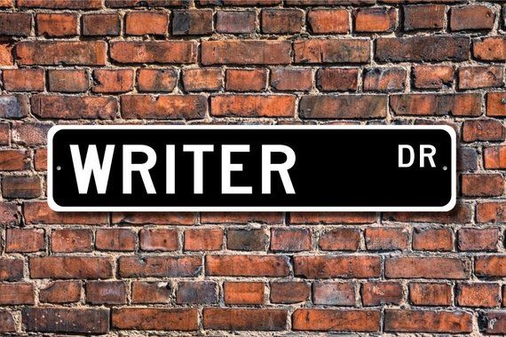 Writer, Writer Gift, Writer Sign, literature, book author, magazine articles, movie scripts, Custom Street Sign, Quality Metal Sign #plotthound