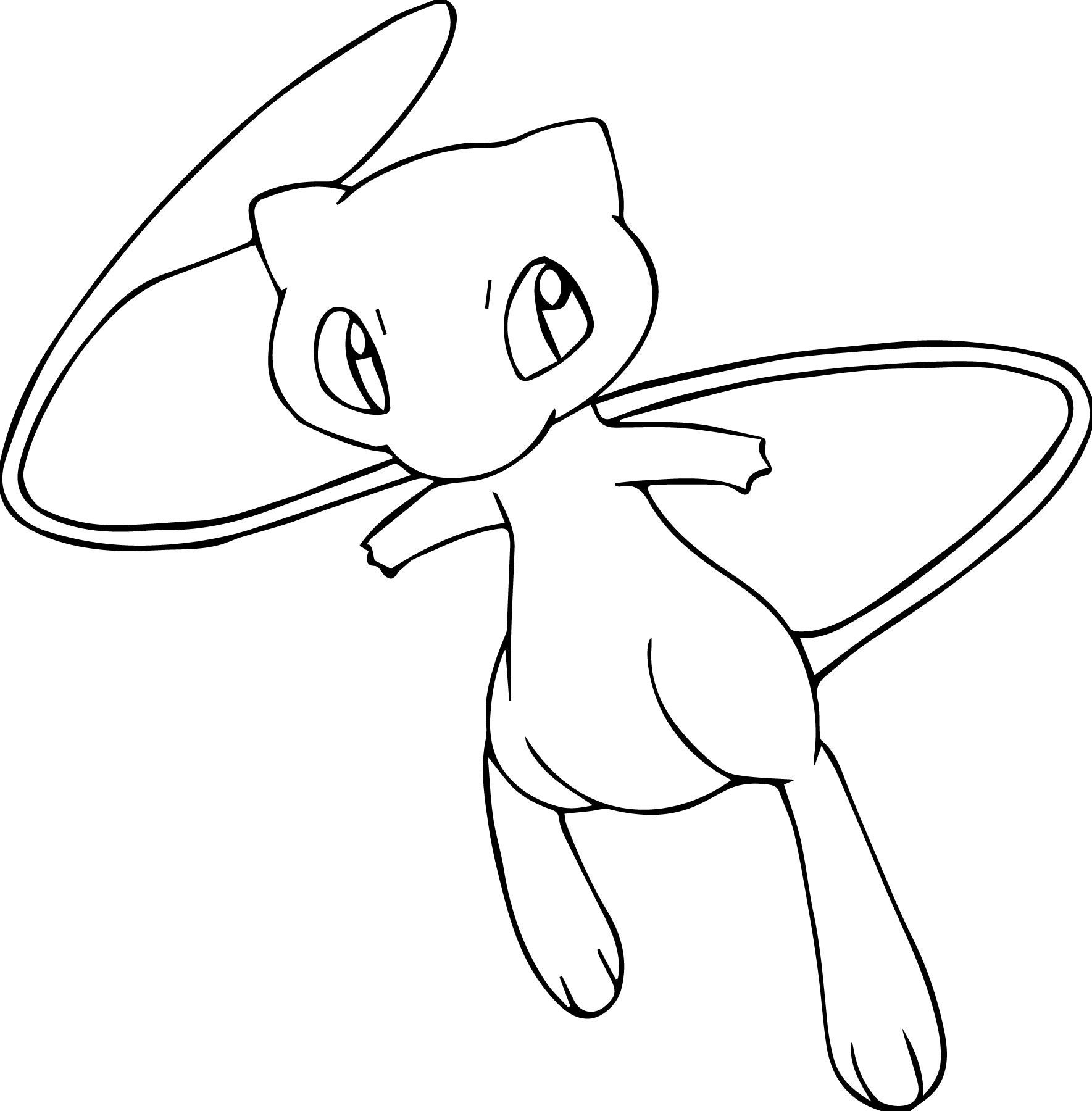 Mew Coloring Page (With images) Pokemon coloring pages