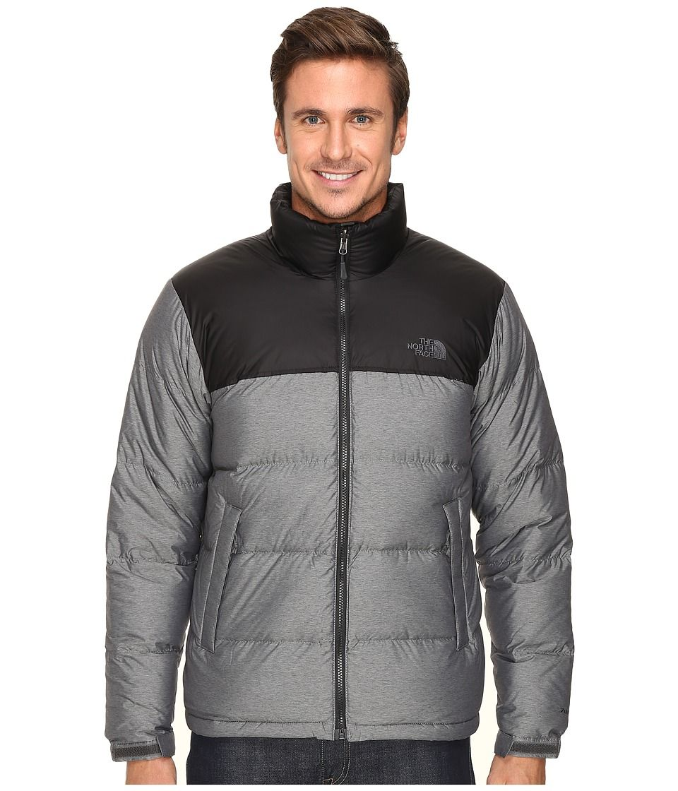 THE NORTH FACE THE NORTH FACE - NUPTSE JACKET (TNF MEDIUM GREY HEATHER TNF  BLACK) MEN S COAT.  thenorthface  cloth   3ec385480