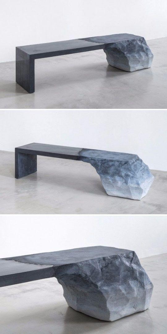 A Glaciers and Rocks Inspired Bench by Fernando Mastrangelo