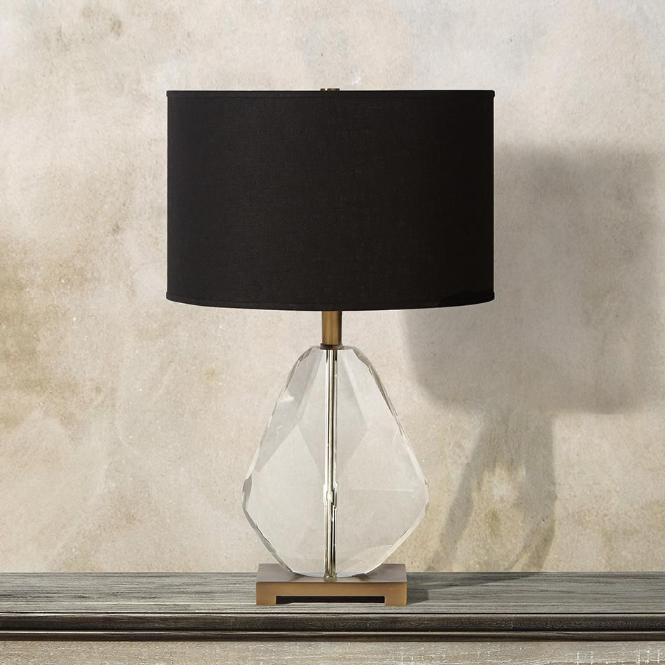 Lola Table Lamp With Black Shade | Arhaus Furniture