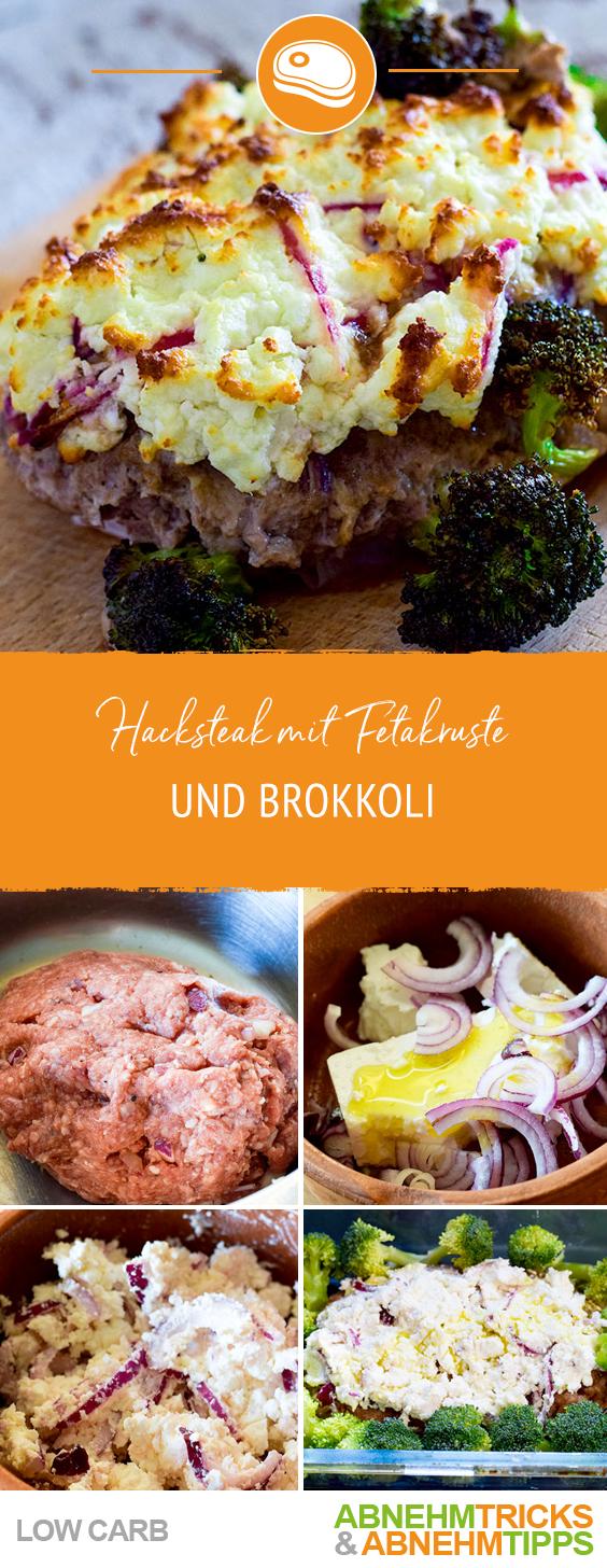 Photo of Low Carb Hacksteak mit Fetakruste und Brokkoli