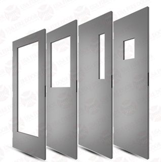 Beau Commercial Steel Doors With Window Cut Outs