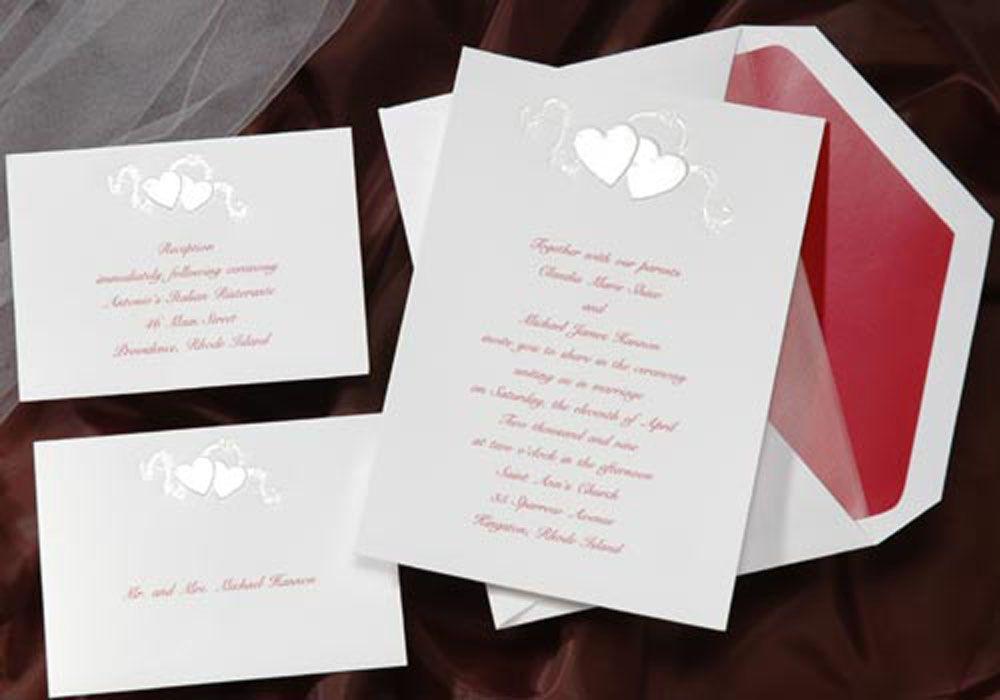 wedding invitation set birchcraft pearl hearts set 25 pearl embossed heart and arrow wedding invitations - Birchcraft Wedding Invitations