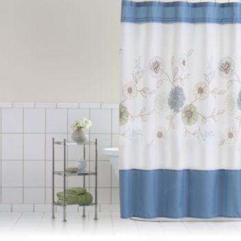 Home+Classics+Della+Fabric+Shower+Curtain