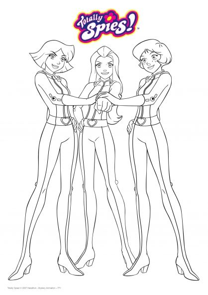 Coloriage A Imprimer Totally Spies.Le Trio De Choc Coloring Pages Totally Spies Coloring