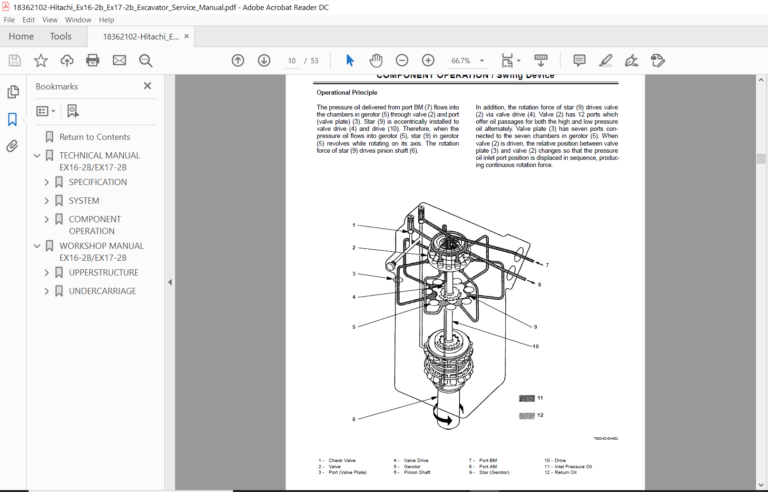 Hitachi Ex16 2b Ex17 2b Excavator Service Manual Hitachi Manual Pdf Download