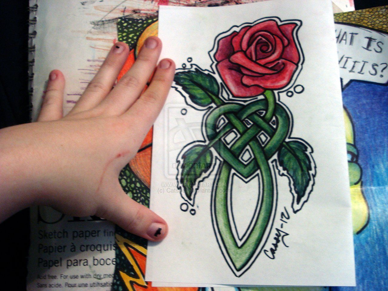 Celtic Rose Thingy By Catshee On Deviantart Rose Stem Types Of Roses Rose