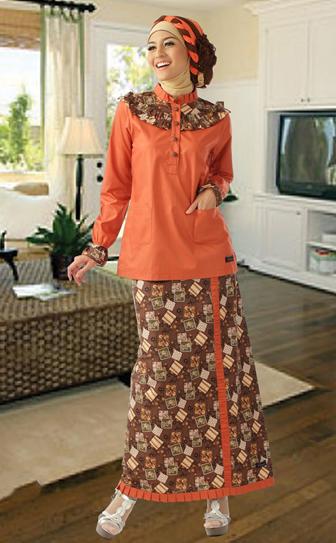 Model Bawahan Batik untuk Gamis Pesta Gaya hijab, Model