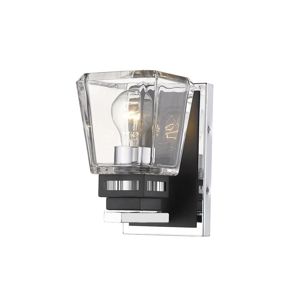 Photo of Jackson 1 Light wall lamp in chrome + matt black, gray, Z-Lite
