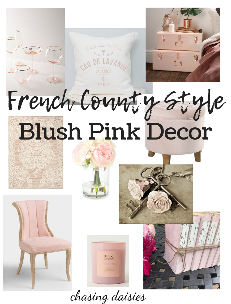 Some Of My Favorite French Country Decor Ideas Are Blush Pink I Love How Soft And Feminine So French Country Decorating French Country Living Room Blush Decor