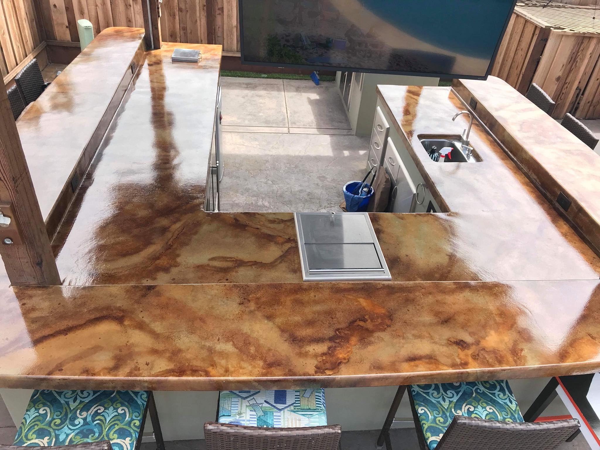 12 Days Of Concrete Countertop Design Ideas Concrete Countertop Design Countertop Design Outdoor Kitchen Bars