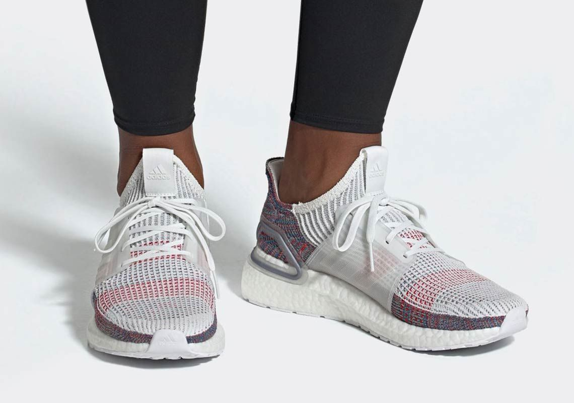 946a09695 The adidas Ultra Boost 2019 Will Feature White And Multi-Color Primeknit 360
