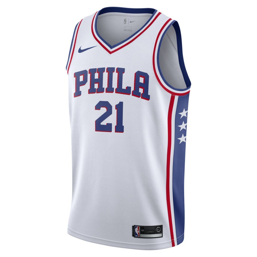 brand new b43d5 dc724 Joel Embiid Association Edition Swingman (Philadelphia 76ers ...