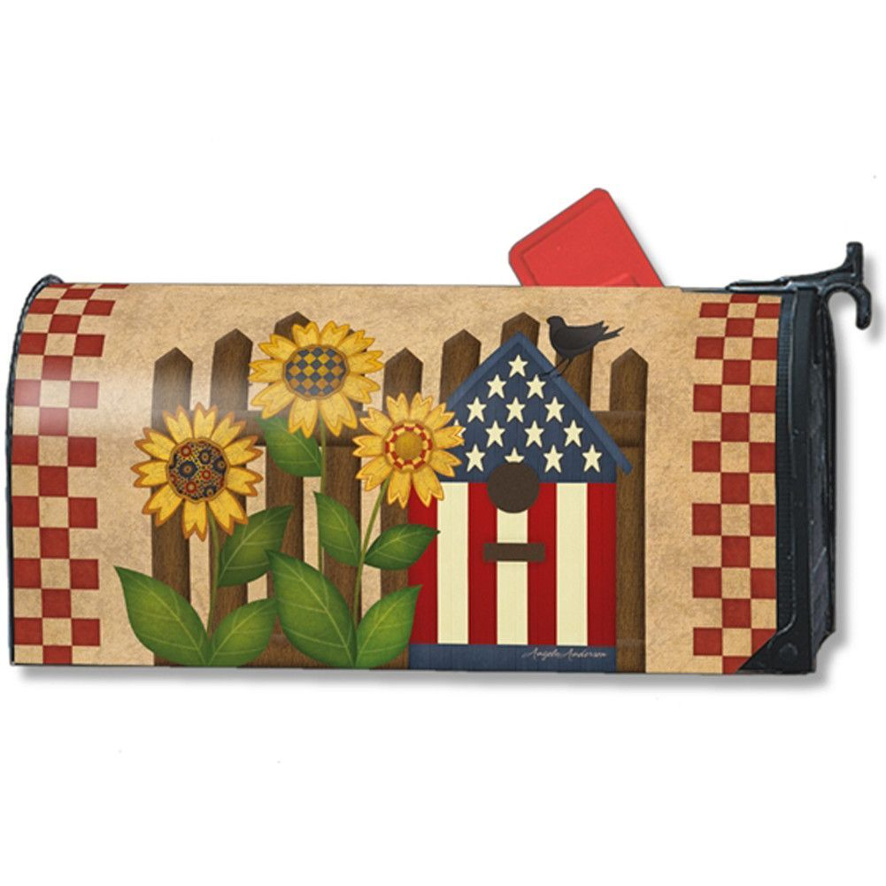 Bless This Home Americana Mailbox Cover Mailbox Covers Magnetic Mailbox Covers Painted Mailboxes
