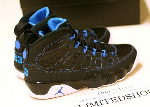 pretty nice f5195 a9c6e 302370 007 Young Air Jordan 9 Big Boys Shoe Photo Blue Black White Olive  Green