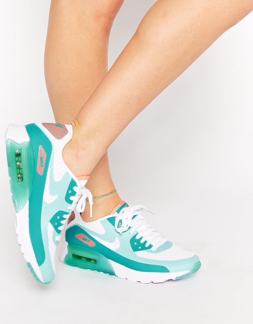 864b89d0f51c Nike Air Max 90 Ultra BR Turquoise Trainers https   twitter.com