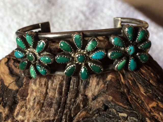 Old Pawn Native American Sterling Silver & Turquoise by Tessey2, $125.00