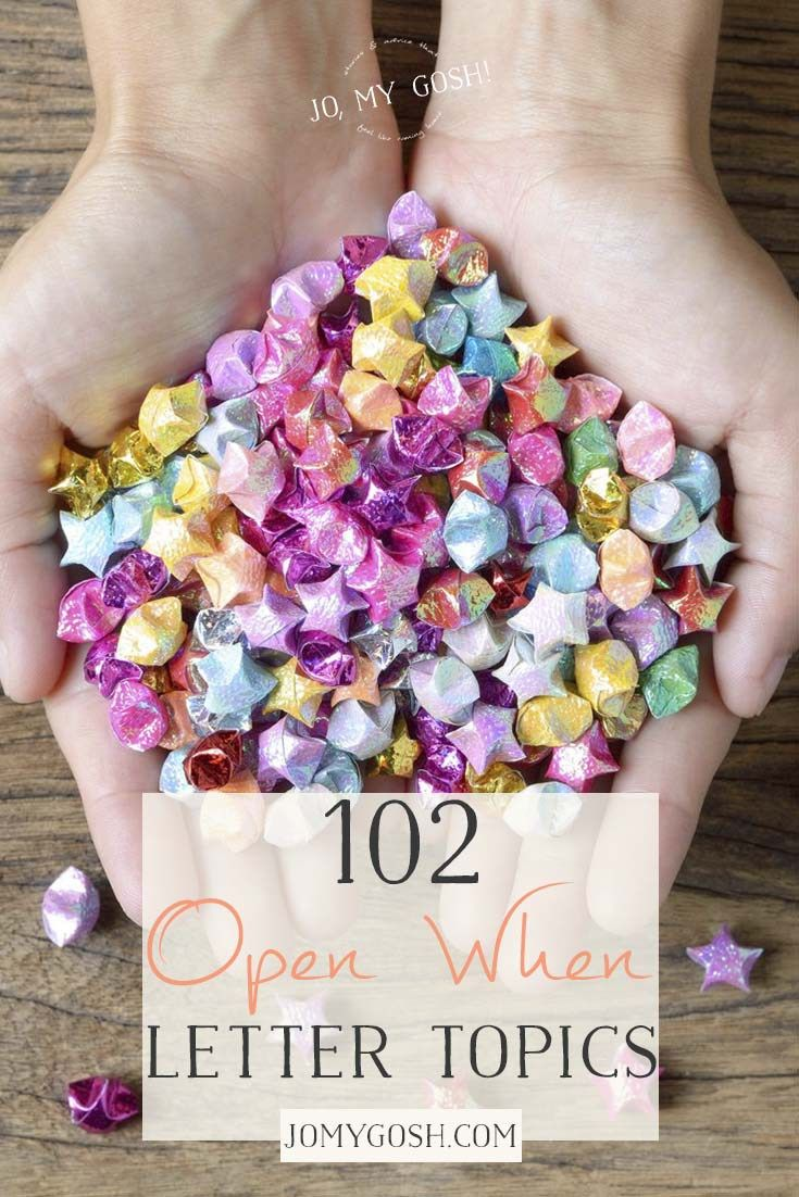 102+ Open When Letter Topics #diygifts