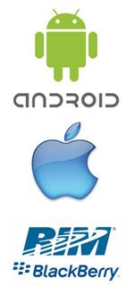 Android took the leading place with Apple and RIM slightly behindM
