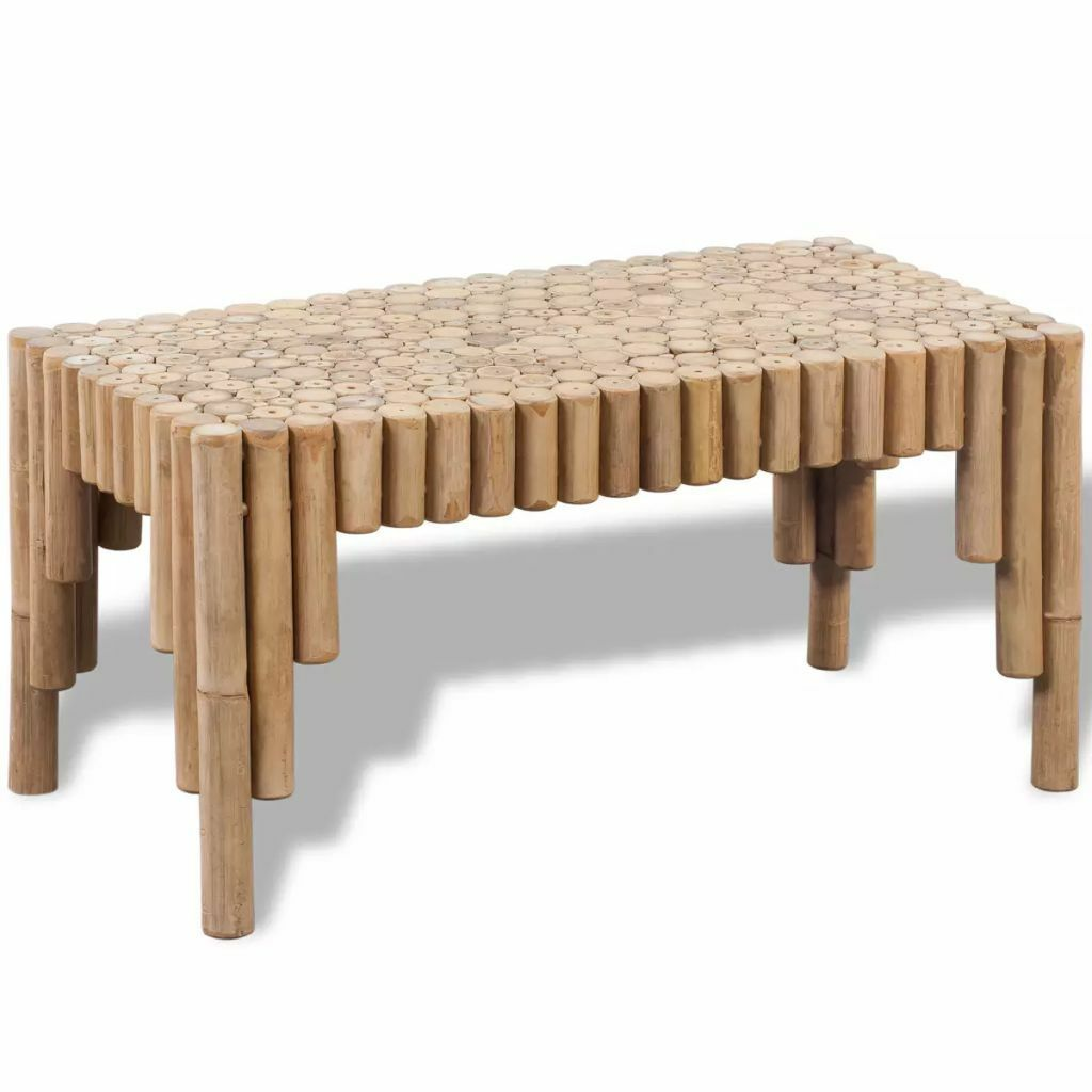 242489 Table Basse Vidaxl En Bambou Bambou Basse En Table Vidaxl Table Basse Table Basse Moderne Roulette Pour Meuble