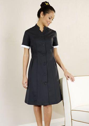Alitha spa dress maid uniform work outfits and black for Spa housekeeping uniform