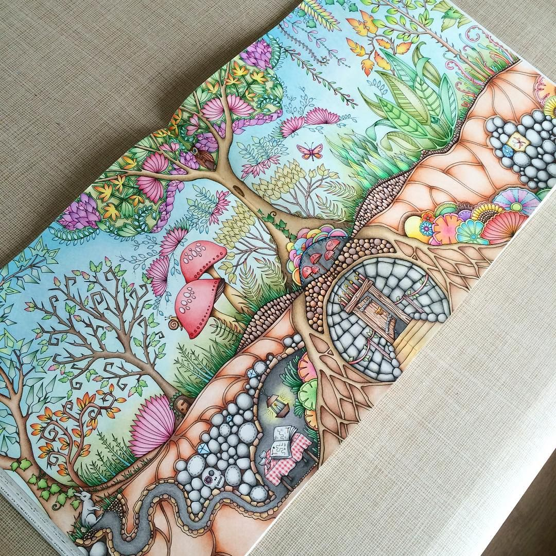 See This Instagram Photo By Johannabasfordfan O 411 Likes Forest GardenColoring BooksAdult ColoringEnchanted