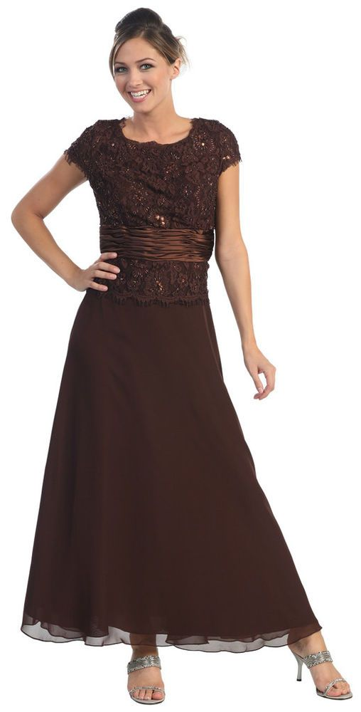 Details about MOTHER OF BRIDE DRESSES FORMAL EVENING GOWN + PLUS ...