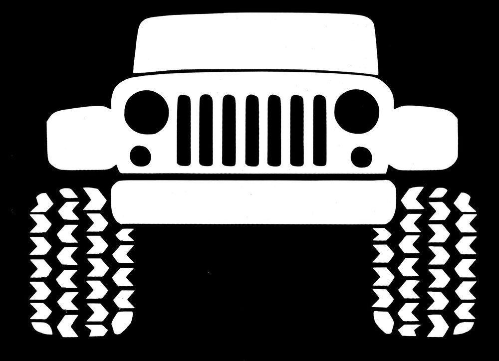 Jeep Off Road 4x4 White Vinyl Decal Sticker Unbranded Vinyl
