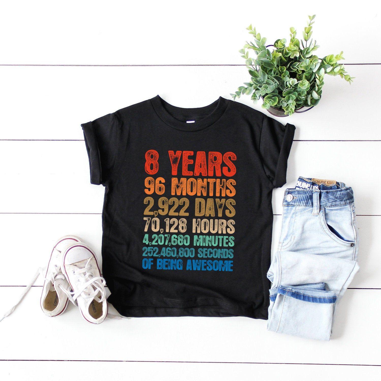 8th birthday shirts hoodie boy girl 8th birthday shirts