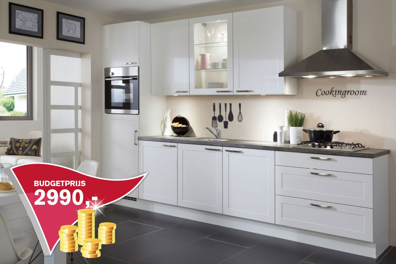 Rechte keuken wilt u een uitgekiende prijs db keukens house kitchen pinterest prijs - Kleine keuken ideeen ...