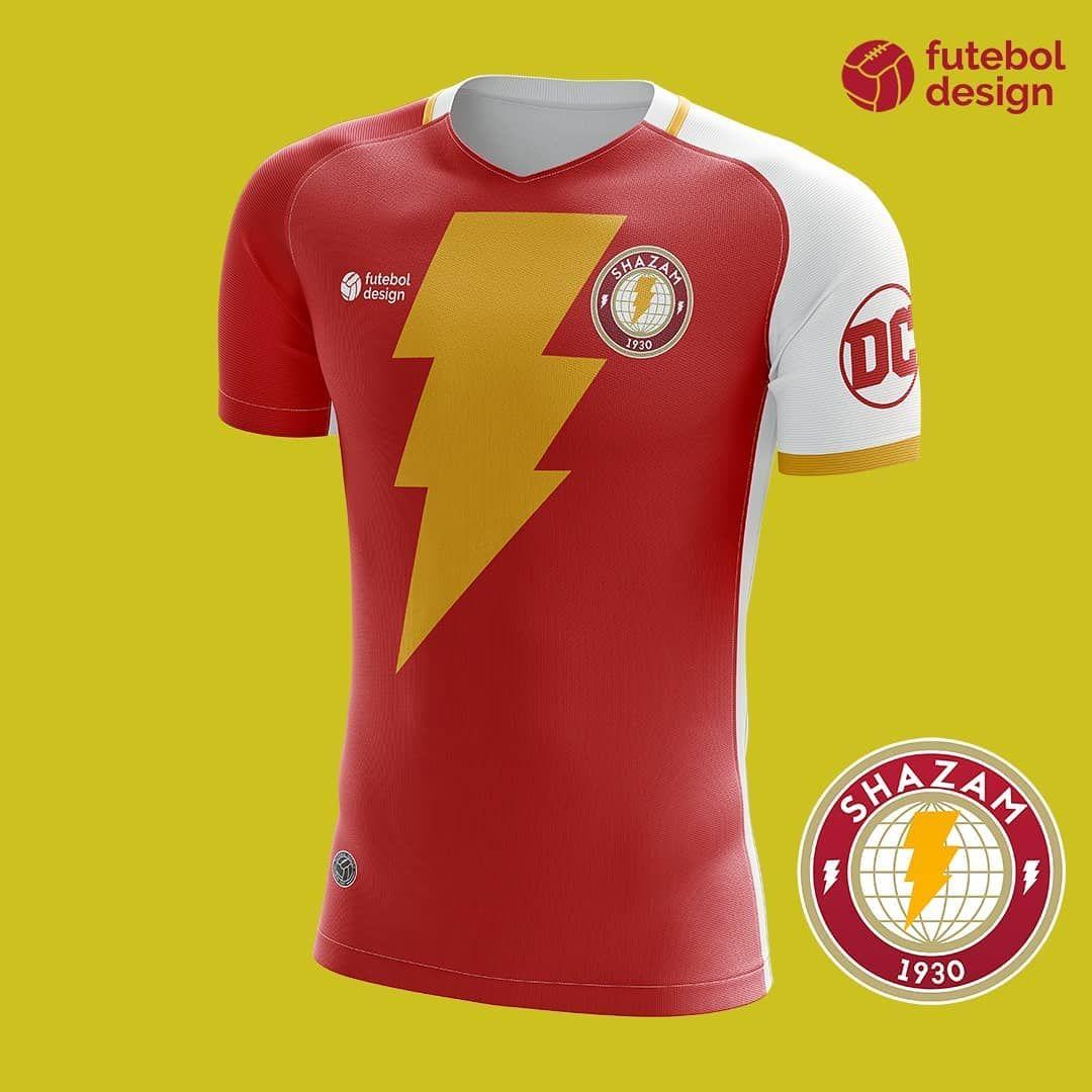 E se fosse um clube de futebol  ⚽ Eis como seria o uniforme do Shazam  (Capitão Marvel) ⚡ Personagem da DC Comics .  futebol  football… b09c59cdc76f6