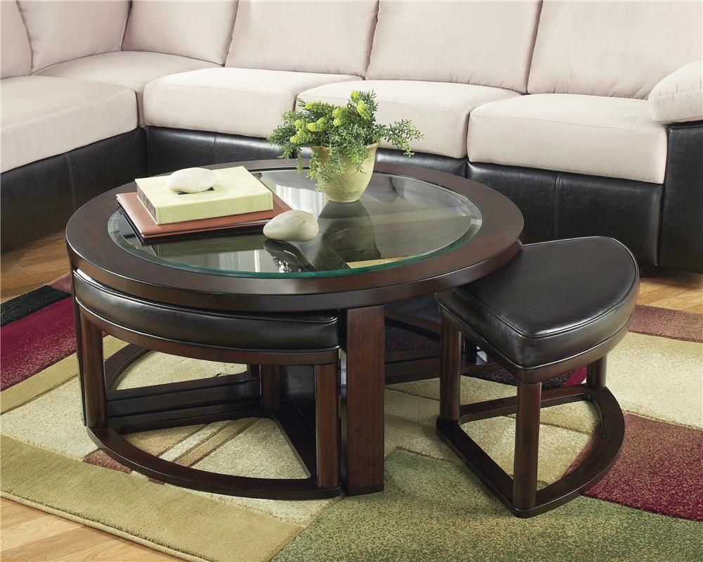 Marion Round Cocktail W 4 Backless Stools By Signature Design By Ashley Coffee Table With Stools Coffee Table And Stool Set Coffee Table [ 799 x 1000 Pixel ]