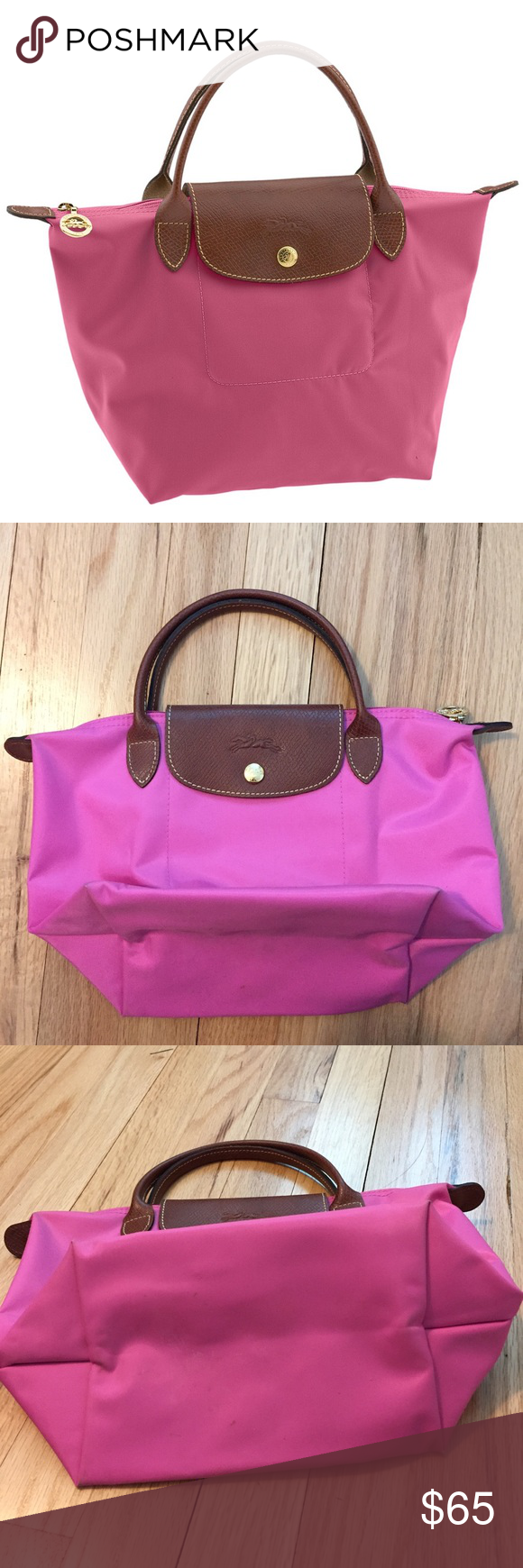 f512029bfb0 Authentic Longchamp le pliage mini pink purse Authentic Longchamp le pliage  mini pink purse with very small marks on bottom of bag otherwise in like  new ...
