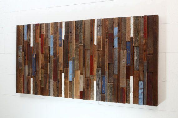 Wood wall art made of old reclaimed barnwood por CarpenterCraig